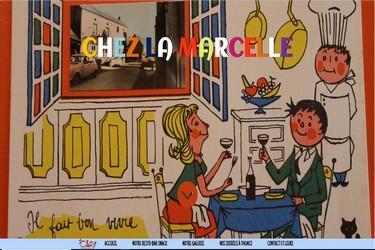 """Site internet du restaurant """"Chez la Marcelle"""" à St Amand"""